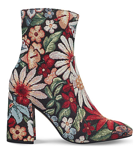 KG KURT GEIGER Rilly floral heeled ankle boots (Mult/other