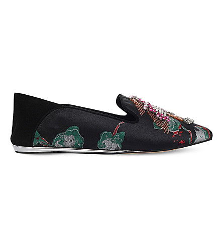 KG KURT GEIGER Opal embroidered satin pumps (Blk/other