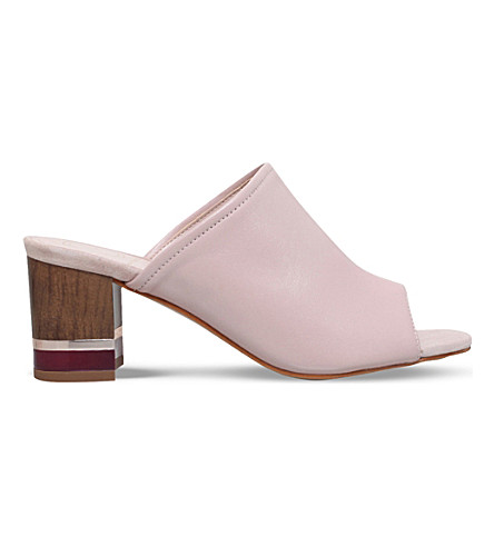 KG KURT GEIGER Hector backless leather mules (Nude