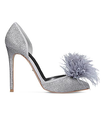 CARVELA Ghost satin heeled courts (Grey