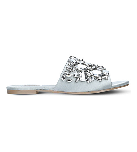 CARVELA Kora satin backless sandals (Grey