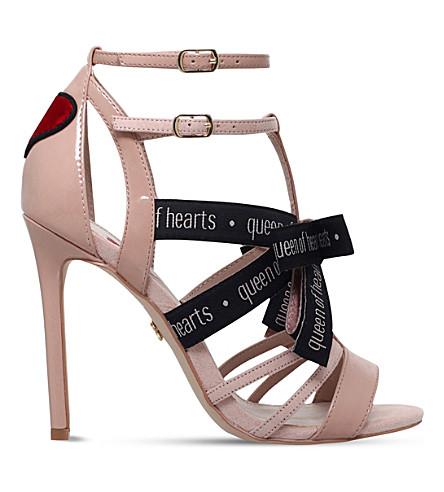 KG KURT GEIGER Hearts patent caged sandals (Beige+comb