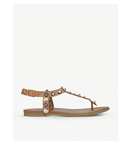 CARVELA Kankan leather sandals (Tan