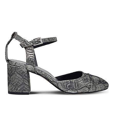 CARVELA Annie block-heel sandals (Silver