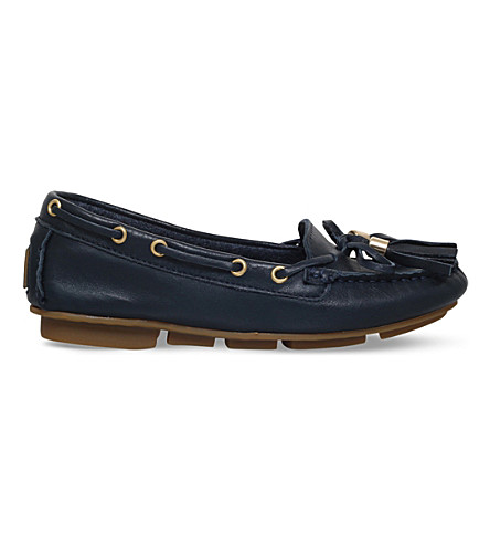 CARVELA Line leather moccasins (Navy