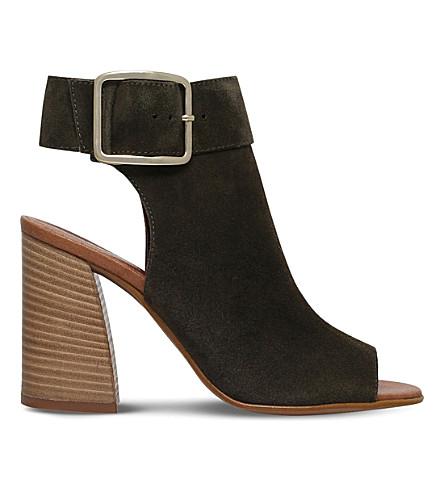CARVELA Karmen suede heeled sandals (Khaki