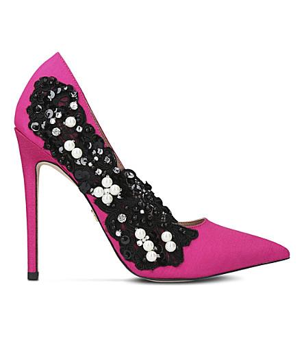 KG KURT GEIGER Bounty satin heeled courts (Pink