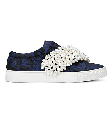 KG KURT GEIGER Ottis patterned fabric trainers (Blue+other