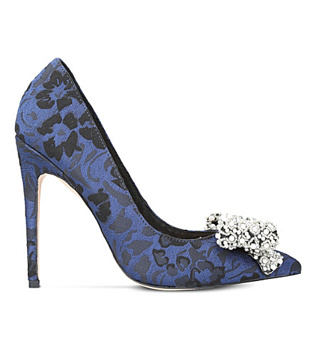 KG KURT GEIGER Bow embellished jacquard courts (Blue+other