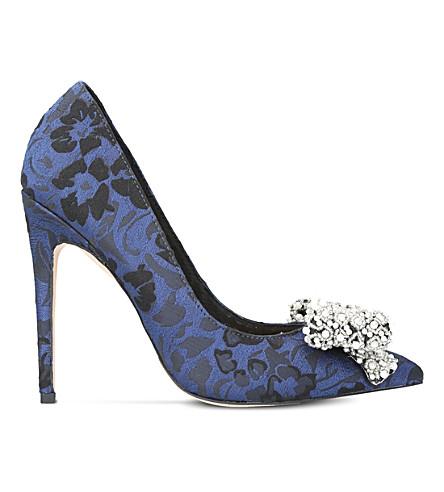 KG KURT GEIGER Bow embellished jacquard courts (Blue+other