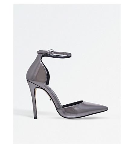 CARVELA Adalyn metallic court shoes (Gunmetal