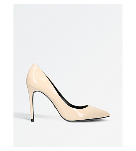 CARVELA Apricot patent court shoes (Cream