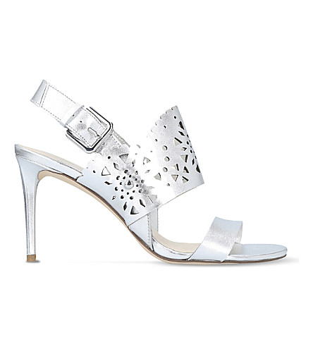 NINE WEST Radhuni leather heeled sandals (Silver