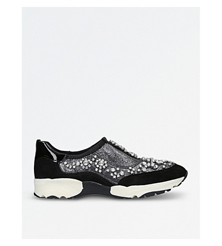 CARVELA Lighter embellished trainers (Gunmetal