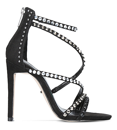 CARVELA Grass studded suedette sandals (Black