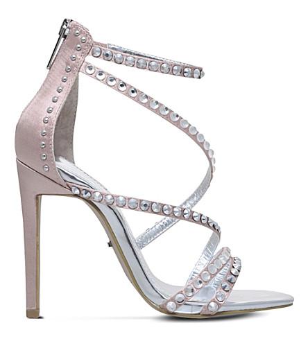 CARVELA Grass satin heeled sandals (Nude