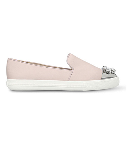 MISS KG Lollie embellished trainers (Nude