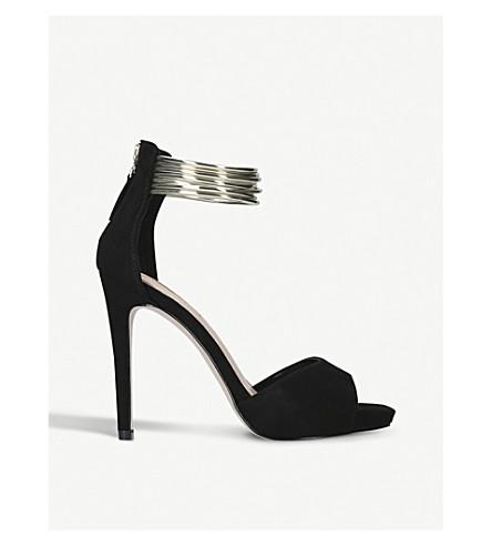 MISS KG Fiona suedette bangle-strap sandals (Black