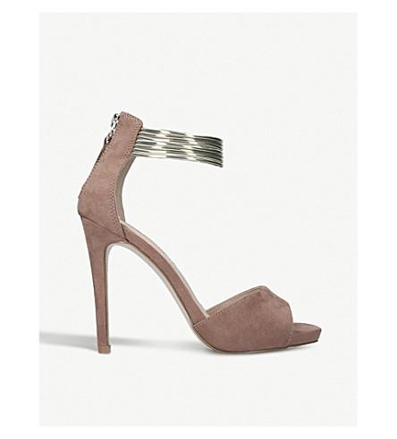 MISS KG Fiona suedette bangle-strap sandals (Nude