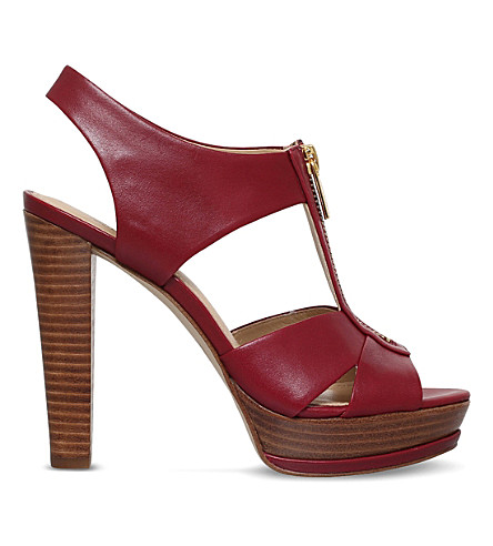 MICHAEL MICHAEL KORS Bishop platform leather sandals (Red