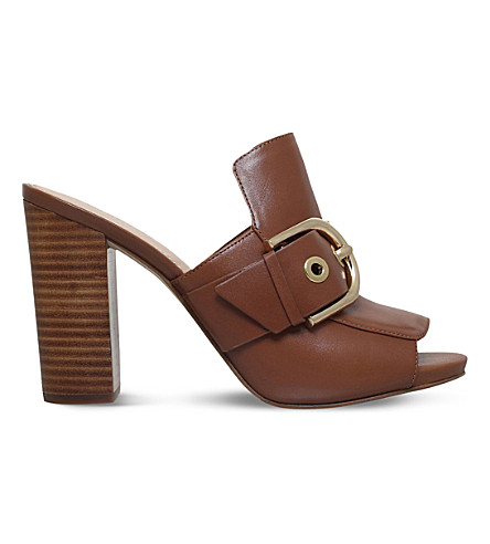 MICHAEL MICHAEL KORS Cooper leather mules (Tan