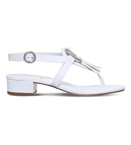 MICHAEL MICHAEL KORS Darien leather sandals (White