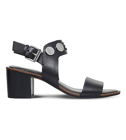 MICHAEL MICHAEL KORS Reggie leather sandals (Black