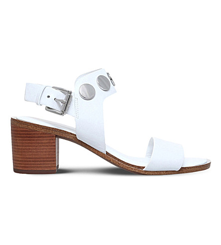 MICHAEL MICHAEL KORS Reggie leather sandals (White