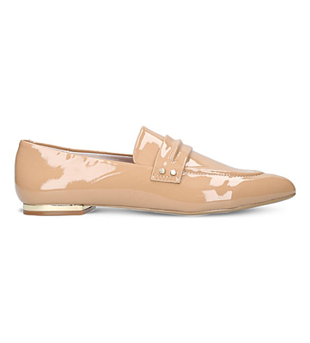 KG KURT GEIGER Kilma slip-on patent-leather loafers (Camel