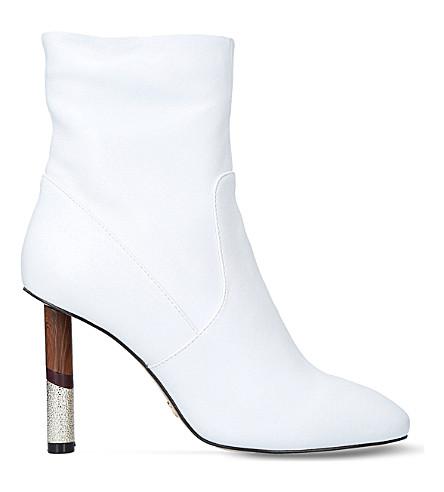 KG KURT GEIGER Raven contrast-heel leather boots (White
