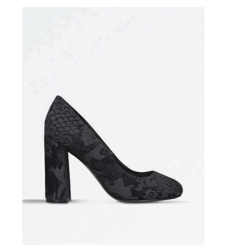 NINE WEST Denton brocade heeled courts (Black