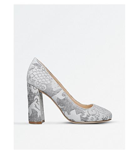 NINE WEST Denton brocade heeled courts (Grey