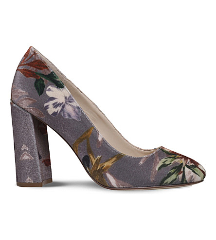 NINE WEST Denton velvet heeled courts (Taupe