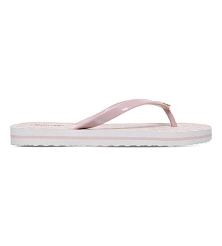 MICHAEL MICHAEL KORS Stripe flip flops (Pale+pink