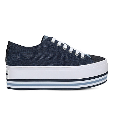 MICHAEL MICHAEL KORS Ronnie denim platform trainers (Denim