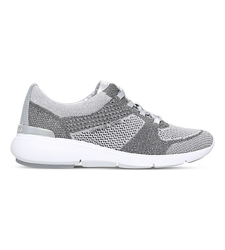 MICHAEL MICHAEL KORS Skyler knit trainers (Silver