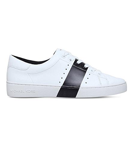 MICHAEL MICHAEL KORS Brady leather sneakers (White/blk