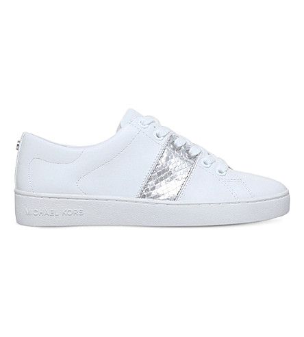 MICHAEL MICHAEL KORS Brady leather trainers (White/oth