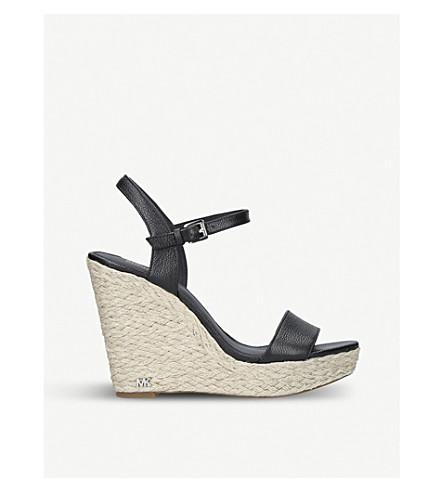 MICHAEL MICHAEL KORS Jill leather wedge sandals (Black