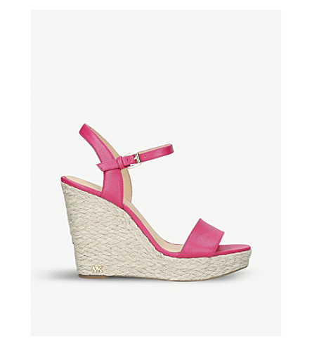 MICHAEL MICHAEL KORS Jill leather wedge sandals (Pink