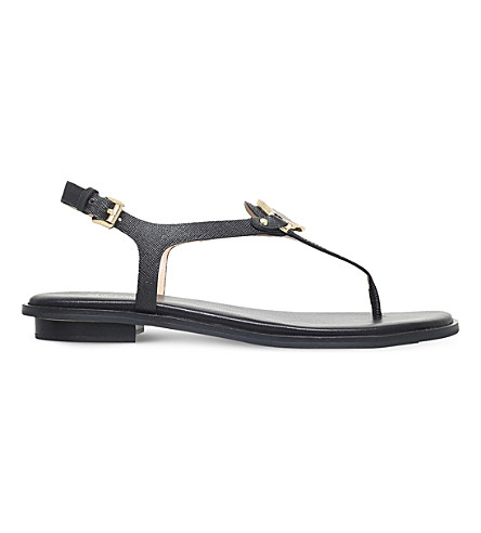 MICHAEL MICHAEL KORS Lee leather sandals (Black