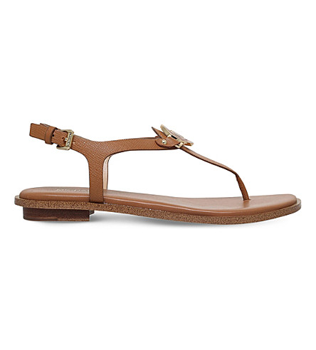 MICHAEL MICHAEL KORS Lee leather sandals (Tan