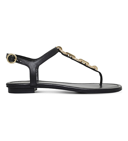 MICHAEL MICHAEL KORS Mahari leather thong sandals (Black