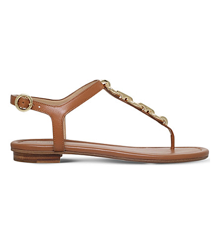 MICHAEL MICHAEL KORS Mahari leather thong sandals (Tan