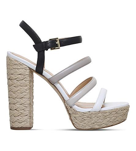 MICHAEL MICHAEL KORS Nantucket platform espadrille sandals (Blk/grey