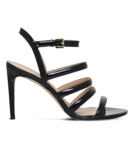 MICHAEL MICHAEL KORS Nantucket patent leather sandals (Black