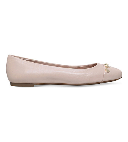 MICHAEL MICHAEL KORS Valencia leather ballerina shoes (Nude