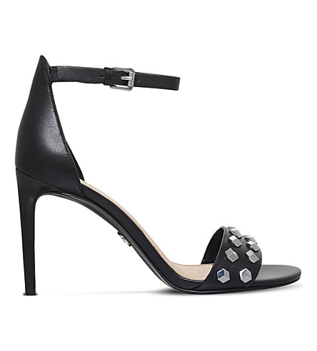 MICHAEL MICHAEL KORS Valencia leather sandals (Black