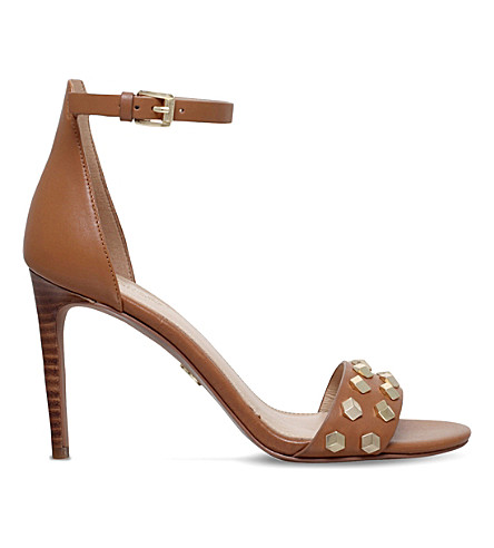 MICHAEL MICHAEL KORS Valencia leather sandals (Tan