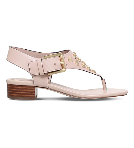 MICHAEL MICHAEL KORS Valencia leather thong sandals (Nude